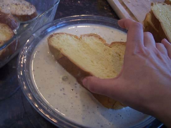 Overnight Ice Cream French Toast with Cinnamon Banana Syrup Recipe | SnappyGourmet.com