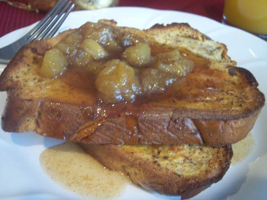 Overnight Ice Cream French Toast with Cinnamon Banana Syrup Recipe | SnappyGourmet.com