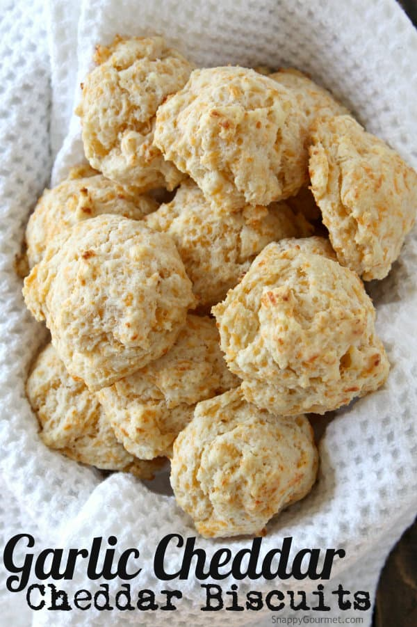 Garlic Cheddar Drop Biscuits Recipe Snappy Gourmet