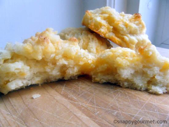 Garlic Cheddar Drop Biscuits Recipe | snappygourmet.com