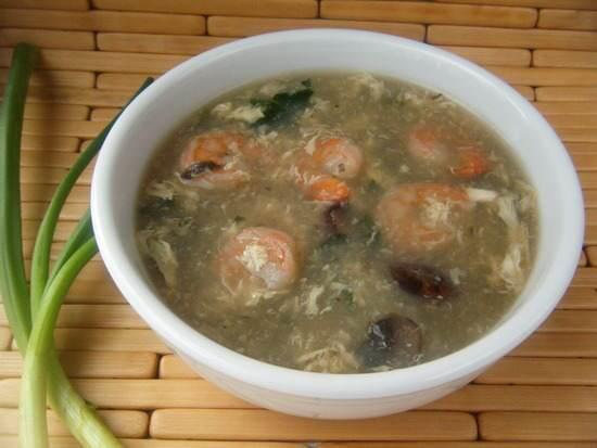 Shrimp & Veggie Egg Drop Soup Recipe | SnappyGourmet.com