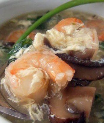 Shrimp & Veggie Egg Drop Soup