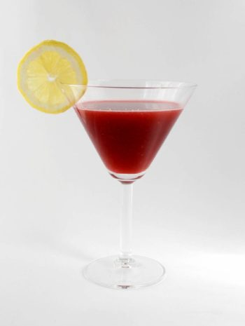 Minty Raspberry-Lemonade Cocktail