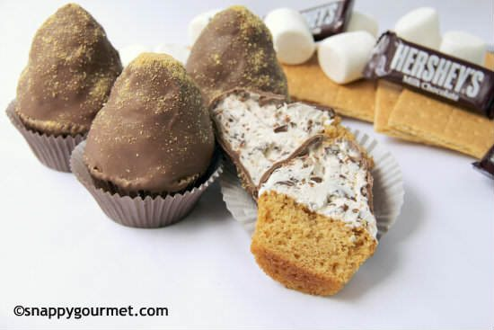 Chunky S'mores Dipped Cupcakes Recipe | SnappyGourmet.com