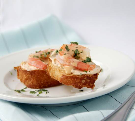 Creamy Chipotle Shrimp Crostini Snappy Gourmet