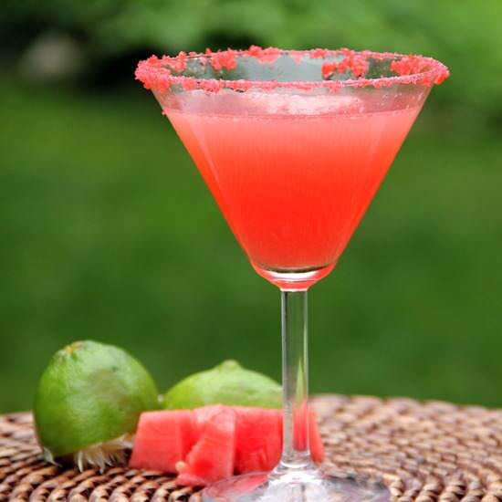 Watermelon Poptini Cocktail Recipe | SnappyGourmet.com