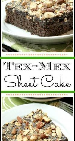 Tex-Mex Sheet Cake recipe - easy moist chocolate Texas Sheet Cake from scratch! SnappyGourmet.com