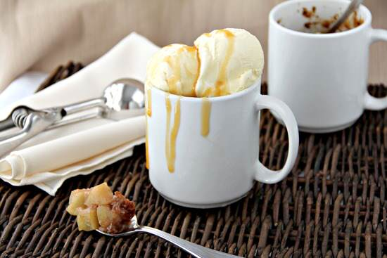 Amaretto Caramel Apple Mug Cobblers Recipe | SnappyGourmet.com