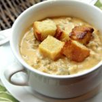Cheesy Pumpkin & Sausage Soup