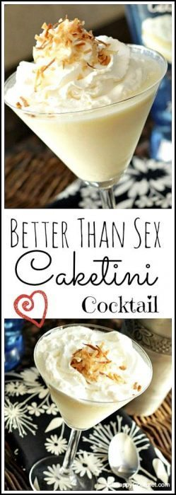 Better Than Sex Caketini Cocktail drink recipe - easy and fun twist on the cake! SnappyGourmet.com