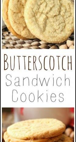 Butterscotch Sandwich Cookies recipe - easy homemade holiday and Christmas cookie | SnappyGourmet.com