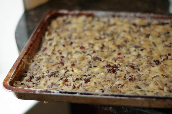 Chocolate Cherry Chunk Cookie Bars Recipe | SnappyGourmet.com