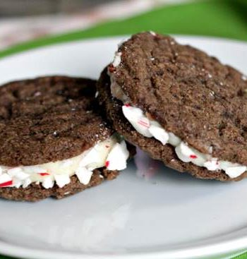 Peppermint Chocolate Sandwich Cookies