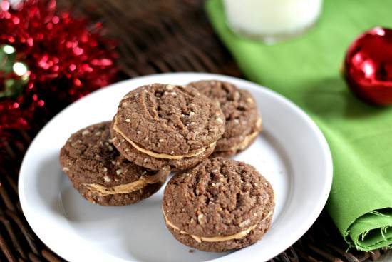 Mexican Hot Chocolate Sandwich Cookies Recipe | SnappyGourmet.com
