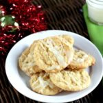 White Chocolate Drizzled Pina Colada Cookies