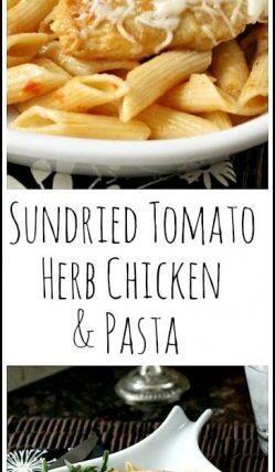 Sundried Tomato Herb Chicken & Pasta - easy homemade Italian dinner recipe | SnappyGourmet.com