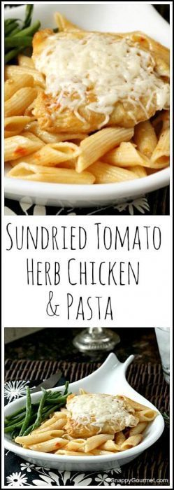 Sundried Tomato Herb Chicken & Pasta - easy homemade Italian dinner recipe | SnappyGourmet.com