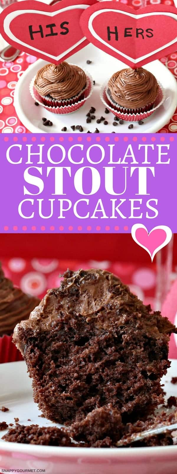 Chocolate Stout Cupcakes Recipe - easy chocolate cupcake recipe with beer!