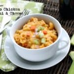 Slow Cooker Buffalo Chicken Macaroni and Cheese