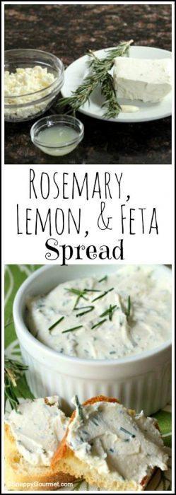 Rosemary, Lemon, & Feta Spread recipe - easy homemade spread and dip | SnappyGourmet.com