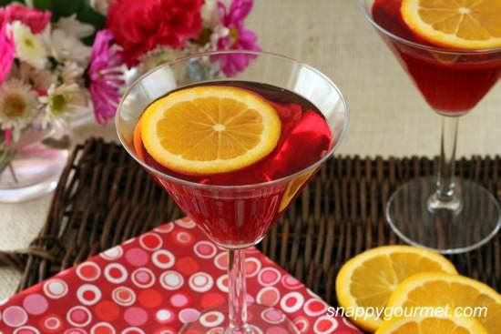 Ruby Slipper Springtini Cocktail Recipe | SnappyGourmet.com