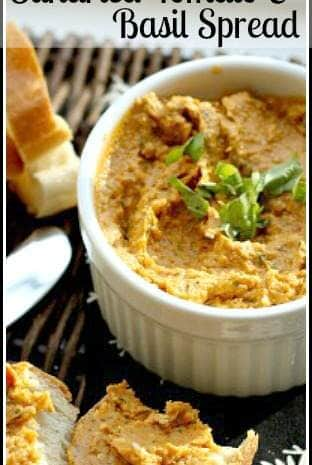 Sundried Tomato & Basil Spread Recipe - easy homemade snack or appetizer   SnappyGourmet.com