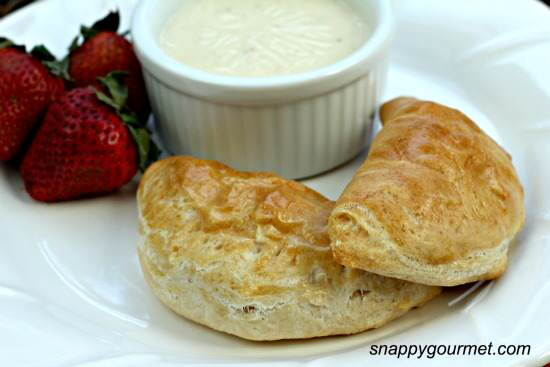 Breakfast Empanadas with Smoky Cheese Dip Recipe | SnappyGourmet.com