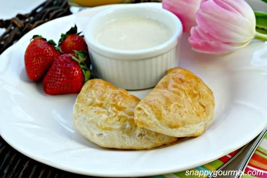 Breakfast Empanadas with Smoky Cheese Dip