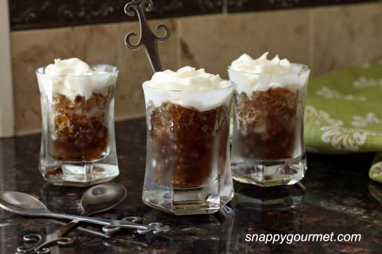 Whipped Root Beer Granita Shots Recipe | SnappyGourmet.com