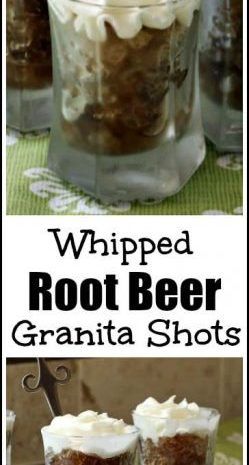 Whipped Root Beer Granita Shots Recipe - easy frozen homemade cocktail recipe. Best summer drink or dessert! SnappyGourmet.com