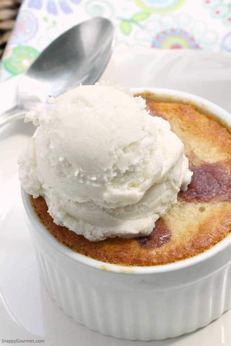 Strawberry Cobbler Recipe - Simple ramekin dessert recipe!