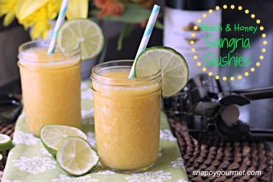 Peach & Honey Sangria Slushies