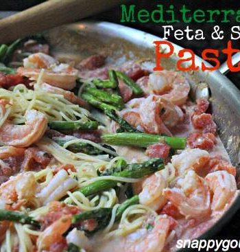 Mediterranean Feta & Shrimp Pasta