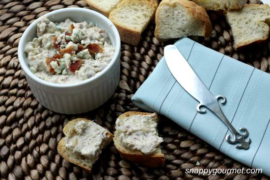 Blue Cheese, Bacon, & Onion Spread Recipe | SnappyGourmet.com