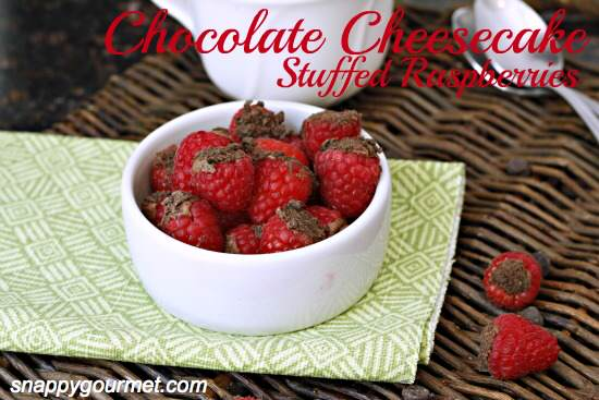 Chocolate Cheesecake Stuffed Raspberries Recipe - Snappy Gourmet