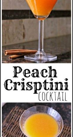 Peach Crisptini Cocktail recipe - easy peach cocktail drink | SnappyGourmet.com
