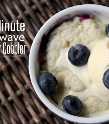 One Minute Blueberry Cobbler (single serving)