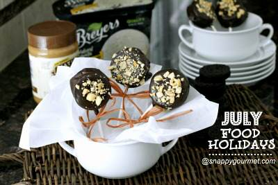 Dipped Oreo Ice Cream Pops - July Food Holidays