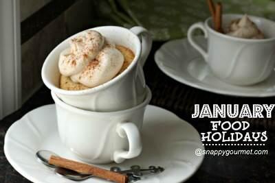 Food Holidays & Recipes (January) | SnappyGourmet.com