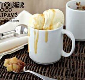 apple cobbler - october food holidays
