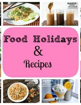 food holidays