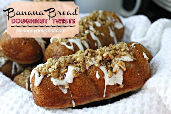 Banana Bread Doughnut Twists
