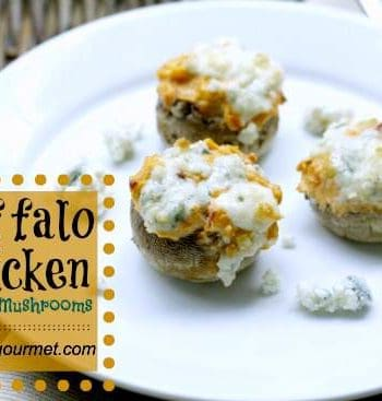 Buffalo Chicken Stuffed Mushrooms