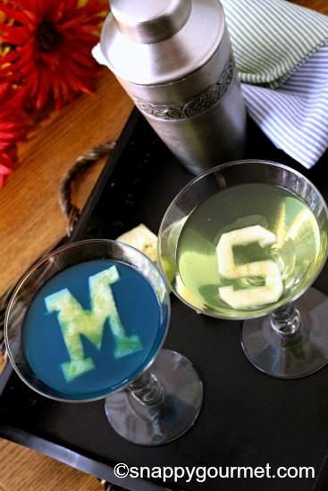 College Cocktails: Worlverinetini & Spartantini Recipes | SnappyGourmet.com