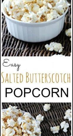 Easy Salted Butterscotch Popcorn Recipe | SnappyGourmet.com