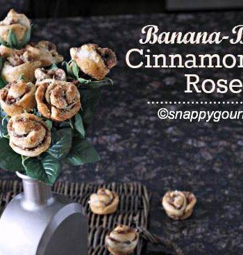 Banana-Bacon Cinnamon Roll Roses