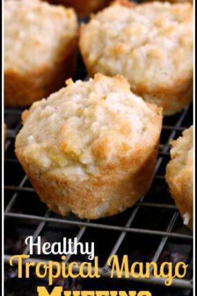 Tropical Mango Muffins - easy gluten free breakfast recipe | SnappyGourmet.com