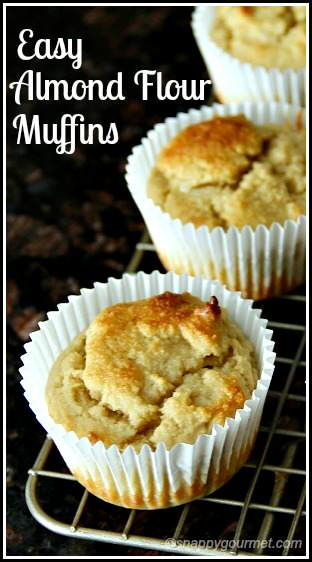 Easy Almond Flour Muffins recipe - gluten free and freezer friendly! snappygourmet.com
