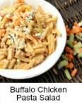 Buffalo Chicken Pasta Salad | snappygourmet.com
