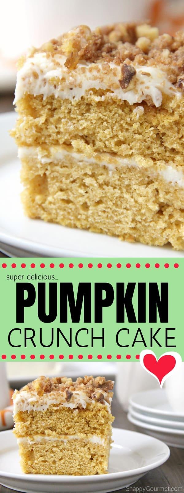 Pumpkin Crunch Cake collage